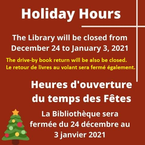 Holiday Hours December
